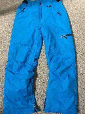New Without Tags Designer Crane Thinsulate  Waterproof Blue Ski Snowboard Pants