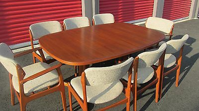 Vintage Danish MCM GUDME MOBELFABRIK Dining Room table w/8 chair and 2 leafs