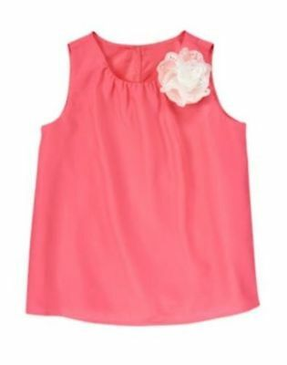 Gymboree NWT 5 5T 6 Spring Dressy Pink Tank Top with White Flower
