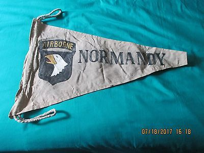 Wwii Us Army 101 St Airborne Division Normandy   Campaign  Banner  Flag