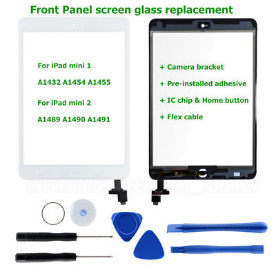 Digitizer Replacement Touch Screen Glass Lens+IC+Home For iPad 4/air 2/mini 1 2
