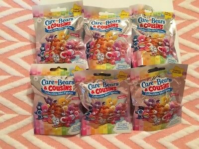 NEW Care Bears & Cousins Collectible Mini Figures Blind Bag 6 Pack Series 4