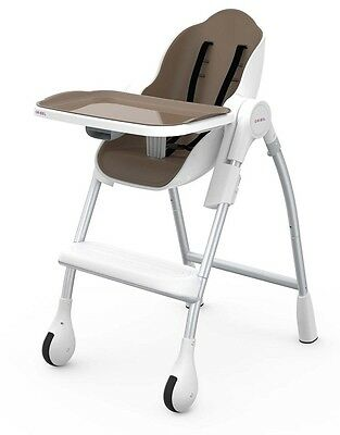 COCOON High Chair Adjustable Foldable Tray Seat Baby Toddler Feed 0m-5yr ALMOND