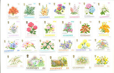 Guernsey Flowers complete set mnh