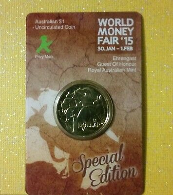 """World Money Fair 15 """" Special Edition $1 Dollar Unc Mob Of Roos"""