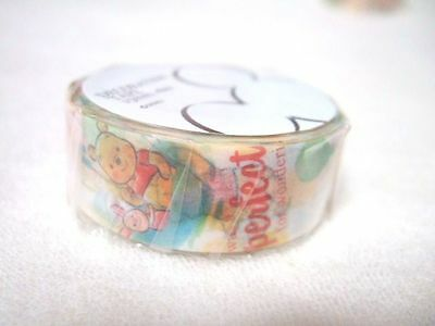 Disney Store Japan Winnie the Pooh paper tape NEW 15mm x 8m washi tape yellow