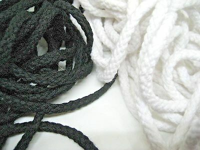 4mm Black, White 100% cotton Braided rope, cord, drawstring, for Clothing,hoodie