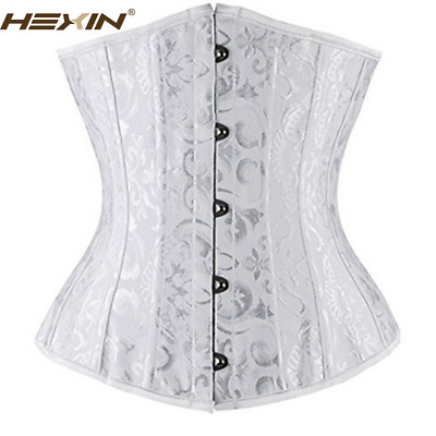 Plus Size Spiral Steel Boned Waist Training Underbust Lace Up Corset Top Shaper