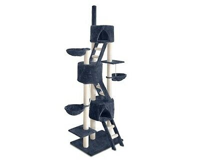 Giant Cat Kitten Grooming Scratching Tree Post Gym Furniture Tower Ladder Pouch