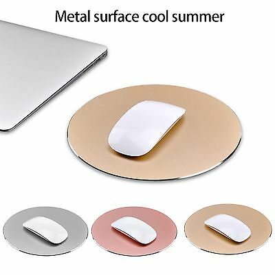 Universal Round Aluminum Pad Mousepad Gaming Mat Mouse Macbook Apple Computer PC