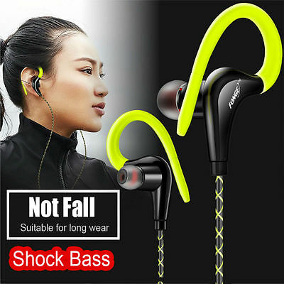 Hook Over Ear Headphone Sports Gym Jogging Running In Ear Earphones With Mic