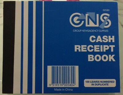 Cash Receipt Book-100 Leaves Numbered In Duplicate-Free Postage Too!