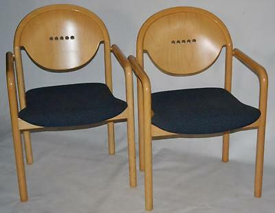 Set of 2 Italian TONON Stackable Teak Chairs - FREE Shipping [PL1591B]