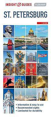 Insight Flexi Map St Petersburg, Guide, Insight, New Book