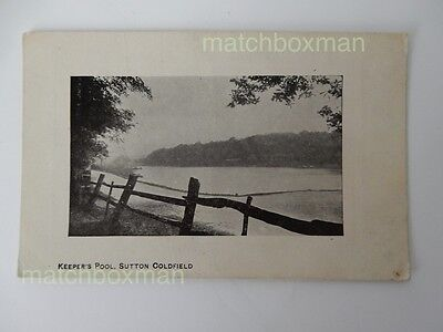 Keeper's Pool Sutton Coldfield Birmingham Printed Postcard 1911 Used  710/71