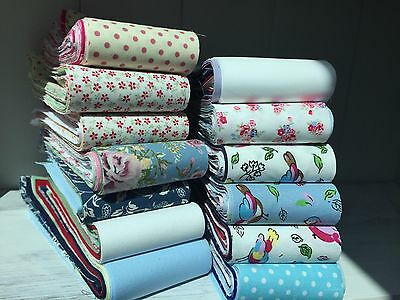 10 Cotton jelly roll strips, end of line mixed fabrics starter set 100% COTTON