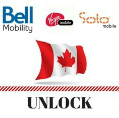 Canada Bell / Virgin / Solo iPhone X Xr Xs Max 11 Pro Max Factory Unlock Service