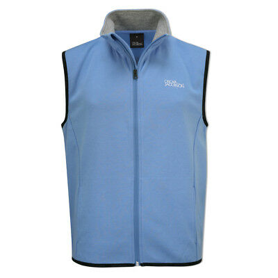 Oscar Jacobson Tour Vest with Full-Length Zip in Sky Blue