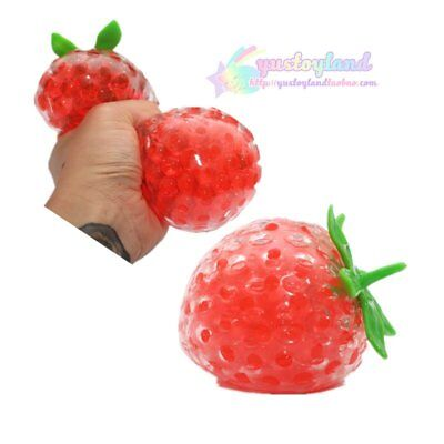 Jumbo Jelly Strawberry Squishy Antistress Ball Reliever Autism Mood Improver Toy