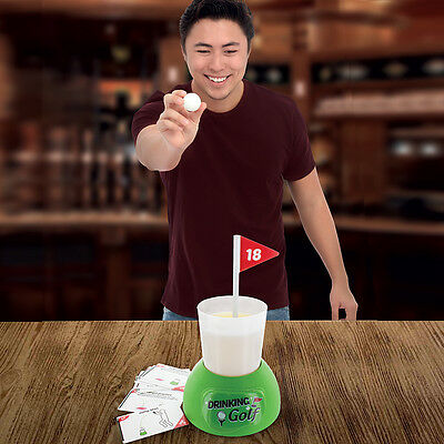 Golf Drinking Game Beer Pong Adult Pub Fun Dinner Party Shots Gift Set Game