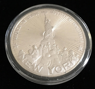 The Great Seal of New York| New York | 1oz .925 Silver Round (RC1293)