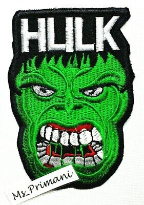 Incredible Hulk Iron On Sew On Patch- Marvel Avengers Shield Superhero Appliques