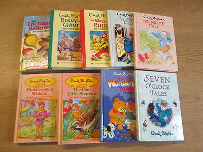 9 x Enid Blyton Hardback Books of Stories for Younger Children Enid Blyton