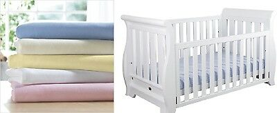 Junior Bed 100% Cotton Soft Jersey Fitted Sheets (70 x 160 cm)