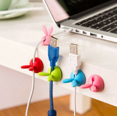 4pcs Smart Adhesive Wire Cord Cable Drop Clips Ties Organizer Holder Line Fixer