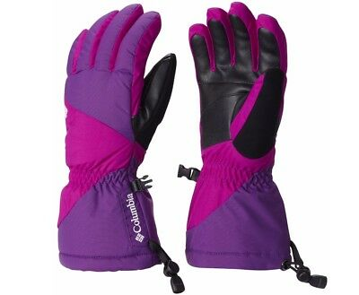 Columbia Women's Tumalo Mountain Ski Gloves S, Iris Glow, Bright plum