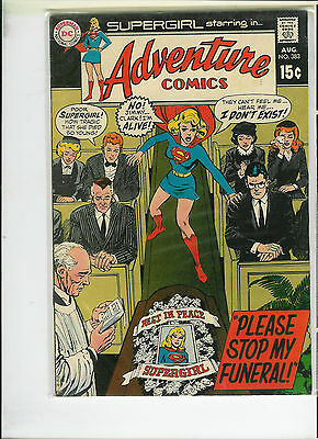 DC ADVENTURE COMICS #383, 385 Supergirl LOT OF 2 SILVER AGE issues from 1960s
