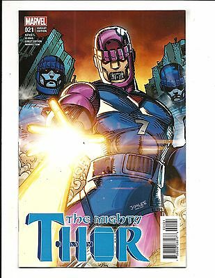 Mighty Thor # 21 (Jim Lee X-Men Card Variant, Sept 2017), Nm New