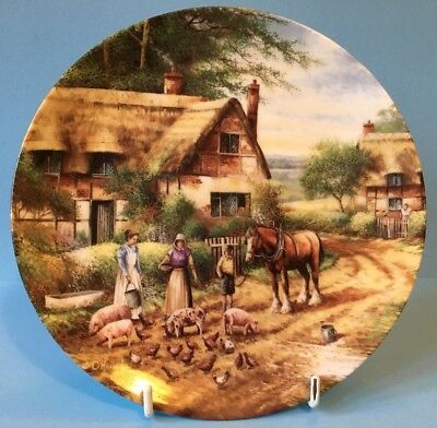 Stunning Wedgwood Country Days - Feeding Time Collectors Plate By Chris Howells