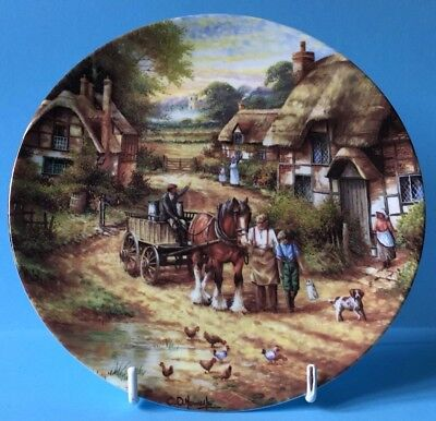 Stunning Wedgwood Country Days - Early Morning Milk Collectors Plate - Wow!