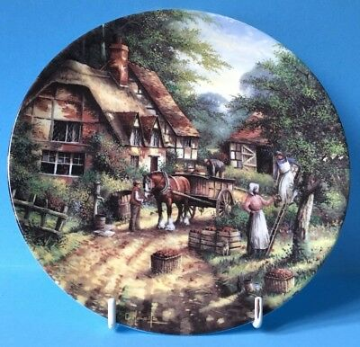 Stunning Wedgwood Country Days - The Apple Pickers Collectors Plate - Wow!