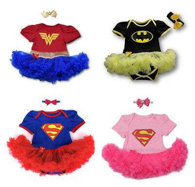 Baby Superhero Supergirl Wonder Woman Girl Tutu Fancy Party Outfit Dress Costume