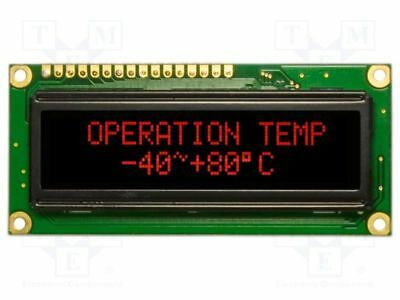 1 pcs Display: OLED; graphical; 100x16; Window dimensions:66x16mm; red