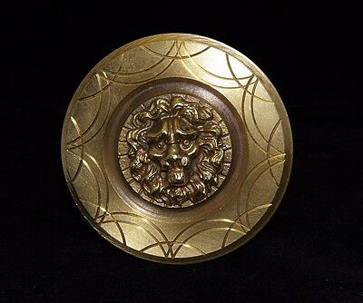 Greece Vintage Solid Brass Large Door Handle Knob Lion Head Push/Pull #5