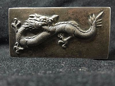 antique sterling silver chinese 3d dragon box
