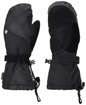 Columbia Women's Whirlibird Waterproof Ski Mittens - Black Cross L