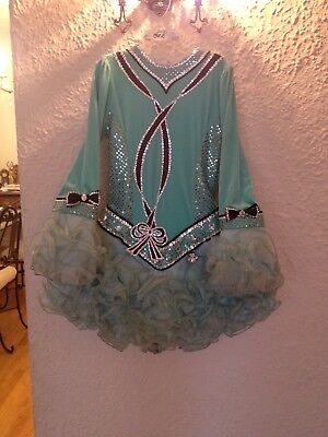 Tiffany Bow Irish Dance Solo Dress Pageant PRICE REDUCED!