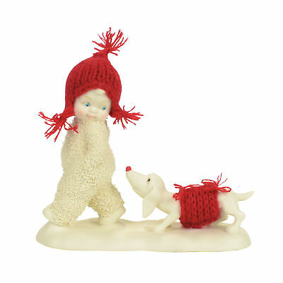 Department 56 Christmas Snowbabies 5.3in Dog Trailing Behind Figurine 4058402