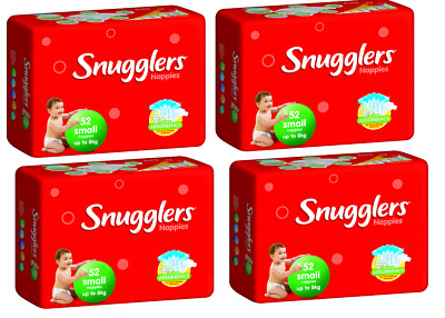 Snugglers Nappies Small Up To 8kg Bulk Buy 4 x 52