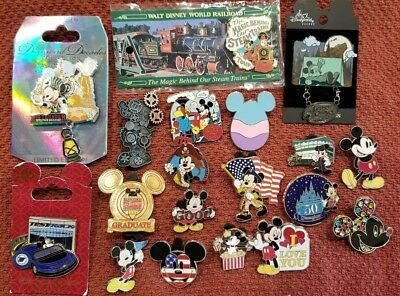 Disney Pin Lot of 19 Mickey Mouse W/ 5 LE Pins & 1 Tour Pin!