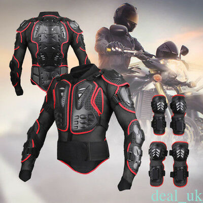 Motorcycle Full Body Armour Shirt Jacket Protector Protection Gear Knee Guard