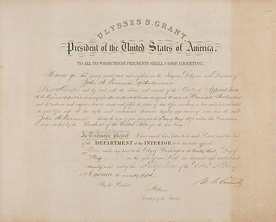 Ulysses S. Grant Signed Document As President May 23, 1871 Psa/dna Loa Potus