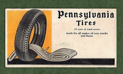 "PENNSYLVANIA TIRES Blotter - 3⅛""x6"", 1930's?, Tire & Inner Tube, Good Condition"