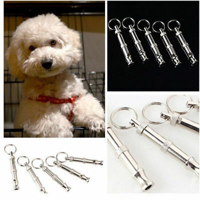 Dog Puppy Pet Training Whistle Silent Ultrasonic Keyring Metal Adjustable Sound