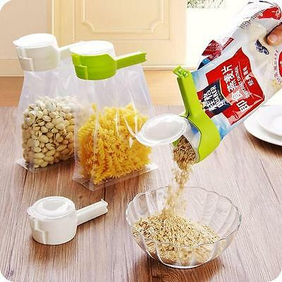 Kitchen Seal & Pour Food Storage Bag Sealer Clip Freezer Fridge Bag Sealing Clip