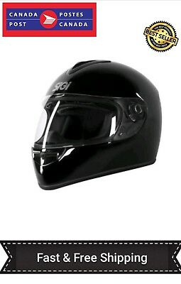 Full Face Sigi Dash Maxx  Motorcycle Helmet-Black